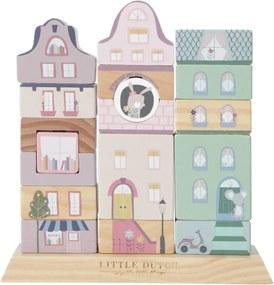 Houten Stapelgeveltjes - Adventure roze - Houten speelgoed