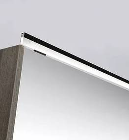 LED line verlichtingsbalk 80x1x2,5 cm mat zwart