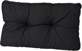 Lounge rugkussen tuin 73x43 cm Rib Black