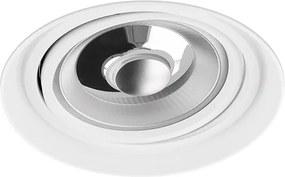 Venezia - Inbouwspot Wit Rond - Kantelbaar - Voor Ar111 Lampen - 1 Lichtpunt - Ø 153mm - Trimless | LEDdirect.nl