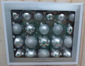 Kerstballen glas zilver
