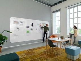 Chameleon frameloze whiteboardwand - Compleet (4 panelen) - 198x392 cm