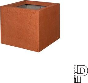 Pottery Pots | Bloempot Jumbo small: lengte 70 cm x diepte 70 cm x hoogte 62 cm rood outdoor bloempotten fiberstone outdoor | NADUVI outlet