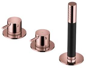 Inbouw Badrandcombinatie Hotbath Cobber Met 2-weg Omstel Roze Goud (incl. Handdouche)