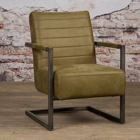Tower Living Stoere Fauteuil Industrieel Bull Green Rocca