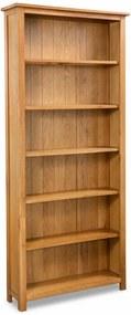 Boekenkast met 6 schappen 80x22,5x180 cm massief eikenhout