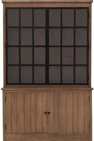 Goossens Buffetkast Teunis, 2 glasdeuren 2 dichte deuren