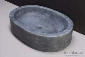 Forzalaqua Firenze waskom 50x35x12cm OVAAL Marmer gezoet blauw wit 100019