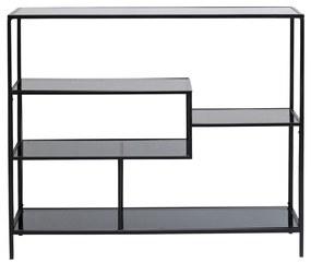 Kare Design Loft Laag Wandrek Staal Met Glas - 115x30x100cm.