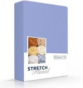 Romanette Luxe Hoeslaken Verwarmend Flanel Stretch - Lavendel 160/180 x 200/220