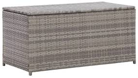 Tuinbox 100x50x50 cm poly rattan grijs