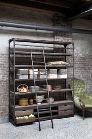 rootsmann Boekenkast industrieel met ladder