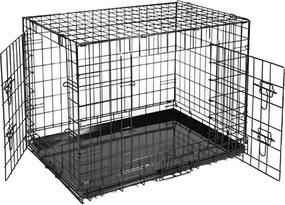 Hondenbench Sterk 91x57x64cm bench hond 2 deuren