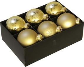 Luxe kerstballen set goud - 72 delig