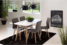 Eethoek Ulfborg Esbjerg (tafel met 4 stoelen) - wit/lichtgrijs - Leen Bakker
