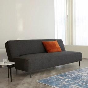 Innovation Living Puzzle Wood Design Slaapbank Met Eiken Onderstel-521 Grijsbruin - 521