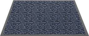 Schoonloopmat Blauw - Mars - 90 x 120 cm
