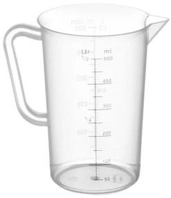 Maatbeker 0,5 Liter Kunststof