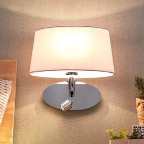 Stoffen wandlamp Akita met LED leeslamp