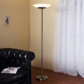 LED uplighter Ragna met dimmer, nikkel mat - lampen-24