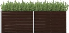 Plantenbak verhoogd 240x80x77 cm gegalvaniseerd staal bruin