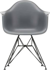 Vitra Eames DAR stoel zwart gepoedercoat onderstel Graniet grijs