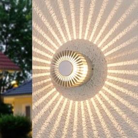 Alu-gekleurde outdoor wandlamp Lennias met LED