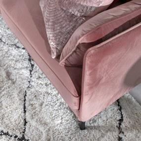 Dimehouse | Bank Peppin 2,5-zits - totaal: breedte 197 cm x diepte 85 cm x hoogte roze zitbanken velvet banken meubels | NADUVI outlet