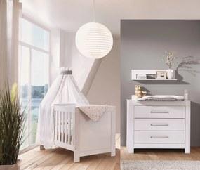 Babykamer Nordica White (Ledikant + Commode)