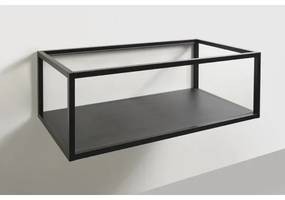 Vtwonen baden Frame inlegtablet wastafel 116x41cm oak black