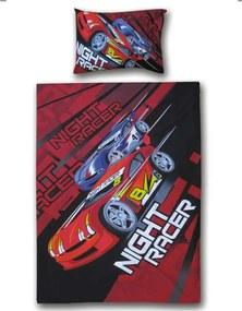 Vipack dekbedovertrek Night Racer - rood - 140x200/220 cm - Leen Bakker
