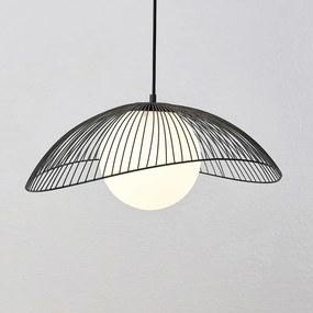 Fabronia hanglamp, rooster, glasbol - lampen-24