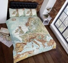 Landkaart 2 persoons dekbedovertrek, Europa dekbed 200 x 200 cm
