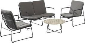 4 Seasons Outdoor Elba/Axel stoel-bank loungeset 4-delig