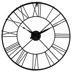 Klok Boston zwart - ø57 cm