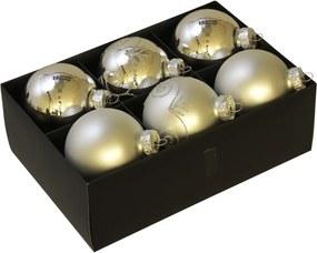 Luxe kerstballen set zilver - 72 delig