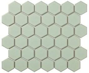 The Mosaic Factory Barcelona mozaïektegel 5.1x5.9x0.6cm wandtegel voor binnen en buiten hexagon porselein antiek groen AFH06052