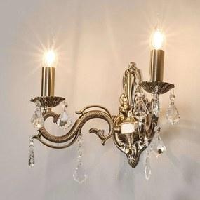 Bronskleurige wandlamp Kora, 2-l