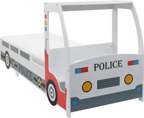 Kinderbed politieauto met 7 Zone H3 matras 90x200 cm