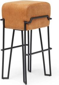 Puik Bokk Barkruk 75cm Oranje Leer