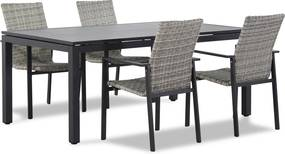 Lifestyle Upton/Concept 180 cm dining tuinset 5-delig stapelbaar