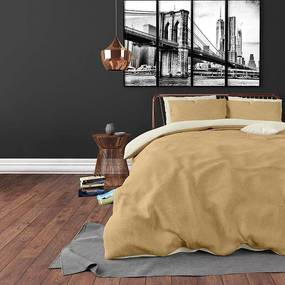 DreamHouse Bedding Twin Face - Percale - Taupe/Wit Lits-jumeaux (240 x 220 cm + 2 kussenslopen) Dekbedovertrek
