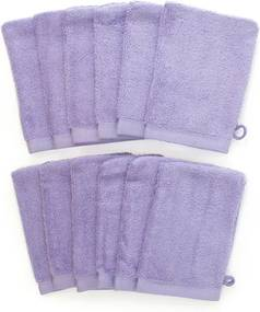 The One Towelling 12-PACK: Washandjes - 16 x 21 cm - Lavendel