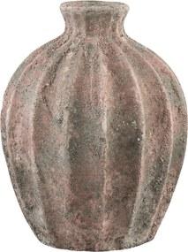 PTMD Collection | Vaas Alina lengte 22 cm x breedte 22 cm x hoogte 28 cm roze vazen keramiek decoratie vazen & bloempotten | NADUVI outlet