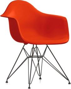Vitra DAR stoel kuip rood onderstel zwart gepoedercoat