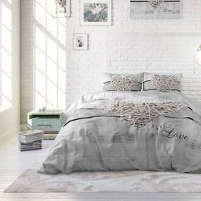 DreamHouse Bedding All With Love 1-persoons (140 x 220 cm + 1 kussensloop) Dekbedovertrek