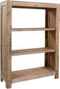 Boekenkast met 3 schappen 80x30x110 cm massief acaciahout