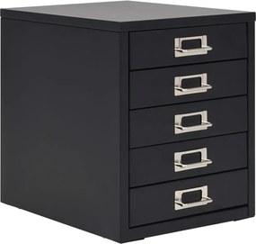 Archiefkast met 5 lades 28x35x35 cm metaal zwart