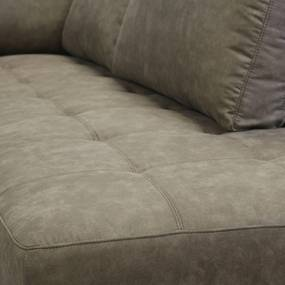 Dimehouse | Deston Hoekbank links 3-zits breedte 270 cm x diepte 225 cm x hoogte 84 cm taupe zitbanken banken meubels | NADUVI outlet