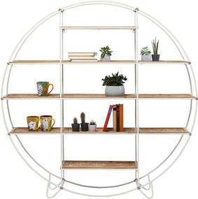 Kare Design Jungle Ronde Open Kast Bamboe Wit - 150x25x152cm.